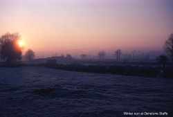 Winter Sunrise at Denstone, Staffordshire