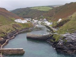 Boscastle, 1 week before the floods Aug 2004