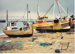 Fishing boats in Hastings, Sussex