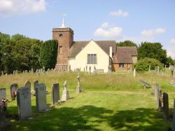 St. Annes church Minstead, Dorset. Burial place of Sir Arthur Conan Doyle.