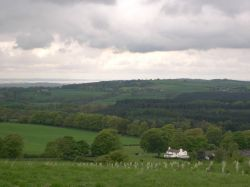 Delamere Forest and River Mersey from Pale Heights, Cheshire