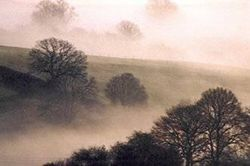Woolhope valley on a misty November Morning in 2005