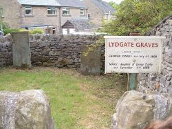 Lydgate plague victims graves, Eyam, Derbyshire Peak District