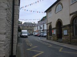 The town square in Clun, South Shropshire