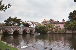 view of Castle Street bridge, Christchurch, Dorset