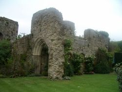 Original castle wall c.1103, Amberley Castle