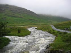 Between Hardknott and Wrynose Passes, Cumbria, July 2004