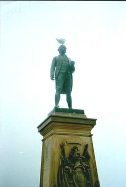 Captain Cook Statue in Whitby, North Yorkshire