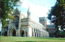 Cathedral in St Albans, Hertfordshire