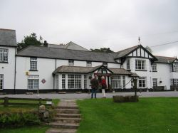 Two bridges hotel. In the middle of Dartmoor.
