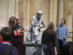 Bath, Somerset.  A living statue