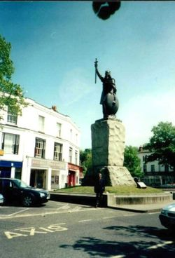 King Alfred's Statue in Winchester, Hampshire