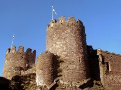 A view of Conwy Castle, North Wales.