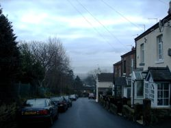 An image taken at School Hill Lane, Lower Heswall, looking over toward Wales