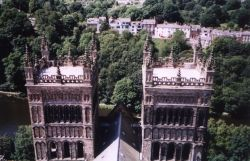Height 218 feet, (66 metres) 325 steps, well worth the effort to climb the tower. Durham Cathedral
