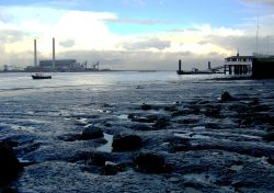 Foreshore at Gravesend with Royal Terrace Pier.