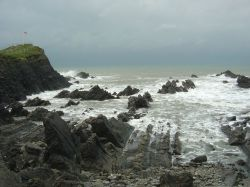 Rough Sea at Hartland Quay, Devon