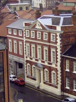 Fairfax house in York. Taken from Clifford's Tower