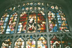 Medieval stained glass at Fairford's St Mary's Church
