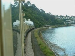 Approaching Kingswear by steam.