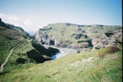 View of Tintagel Castle, Tintagel, Cornwall