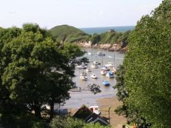 Watermouth Cove and Castle in Devon. June 2005