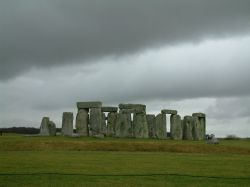 Classic Stonehenge photo, Dreary overcast day put Stonehenge in a stunning setting.