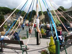 The scarecrow festival held annually at Kettlewell, North Yorkshire