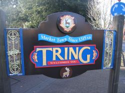 Tring sign. Hertfordshire