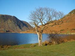 This is Crummock Water on a cold january day in the Lake District.