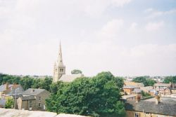 Mansfield, Nottinghamshire. A View above tescos.