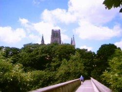 Durham Cathedral from Kingsgate Bridge.