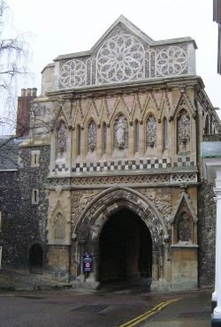 Gatehouse, Norwich Cathedral, Norfolk