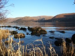 View across Ullswater, late afternoon in early March.