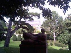 Sculpture in the grounds of Dartington hall, Devon