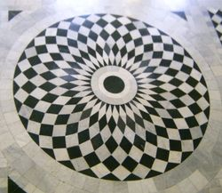 Patterned floor of The Queen's House, Greenwich.