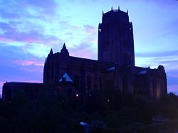Liverpool Cathedral at dusk Wallpaper