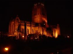 Liverpool Cathedral at night Wallpaper
