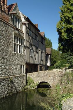 Ightham Mote (Near Sevenoaks) Kent East side in raking light