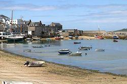 Hugh Town harbour on the Isles of Scilly