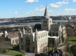 Standard shot of Rochester Cathedral from the castle