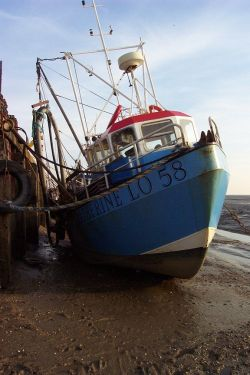 Leigh-on-Sea, Essex. Fishing boat in Old Leigh.