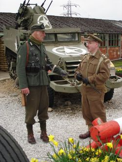 A picture of Eden Camp, Malton, North Yorkshire.WW 2 Easter Weekend held annually.