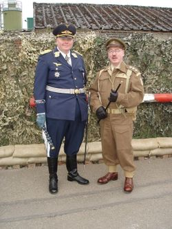 Captain Mainwaring and Field Marshal Goering ,(Lookalikes), at Eden Camp, Malton, North Yorkshire.