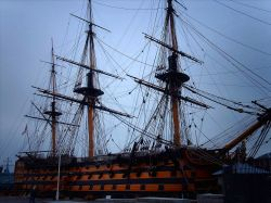 HMS Victory, at the Historical Dockyard in Portsmouth