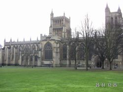 This is a picture of Bristol Cathedral. This picture was taken in year 2004.