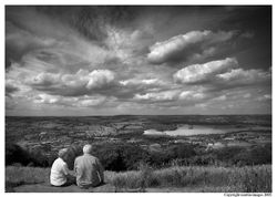 A view to Otley, a time of reflection, West Yorkshire