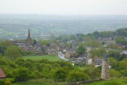 A view of Crich, Derbyshire and the beautiful countryside around it.