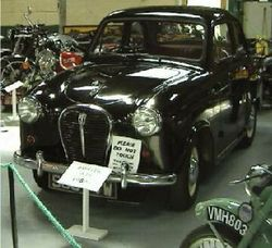 Exhibit in the Bentley Motor Museum (Austin A35), near Lewes, East Sussex