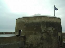 The Martello Tower at Seaford, East Sussex. Now a very interesting museum.